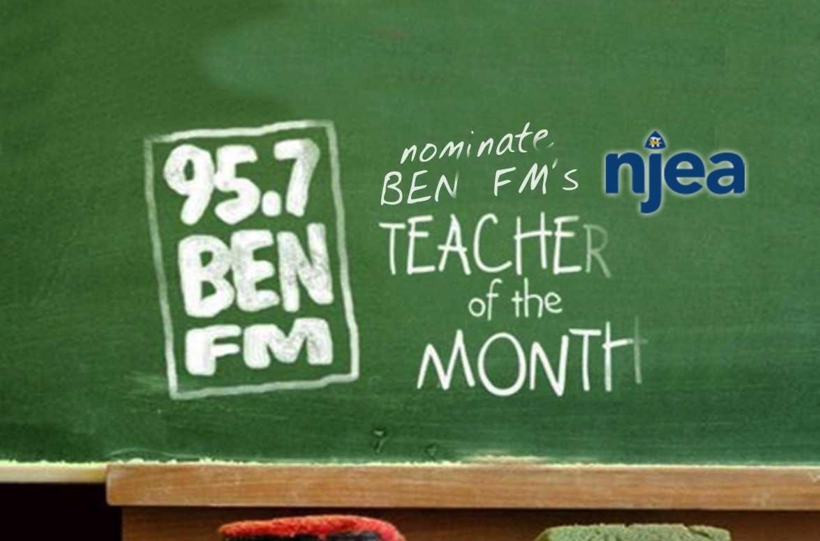 BEN's Teacher of the Month - $50 Visa gift card courtesy of NJEA Online