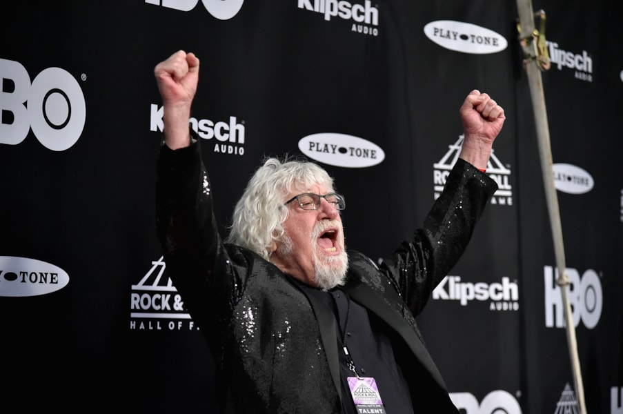 CLEVELAND, OH - APRIL 14:  Inductee Graeme Edge of The Moody Blues attends the 33rd Annual Rock & Roll Hall of Fame Induction Ceremony at Public Auditorium on April 14, 2018 in Cleveland, Ohio.  (Photo by Mike Coppola/Getty Images For The Rock and Roll Hall of Fame)