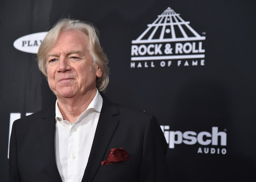 CLEVELAND, OH - APRIL 14:  Inductee Justin Hayward of The Moody Blues attends the 33rd Annual Rock & Roll Hall of Fame Induction Ceremony at Public Auditorium on April 14, 2018 in Cleveland, Ohio.  (Photo by Theo Wargo/Getty Images For The Rock and Roll Hall of Fame)