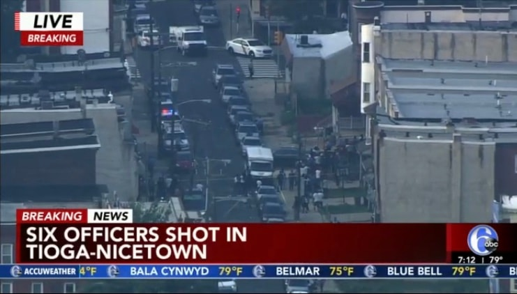 Six Officers Shot In Philly