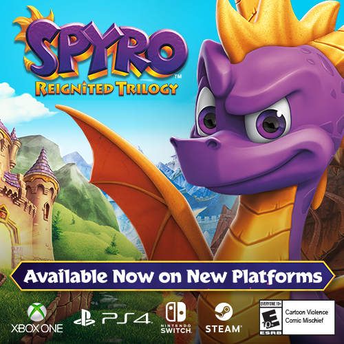 Spyro Reignited Triolgy on PS4, Xbox One, Switch or PC