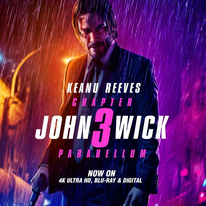 John Wick Chapter 3: Parabellum on Blu-Ray combo pack