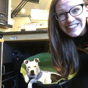 Kristen and BEN-FM Dog Jockey Gloria