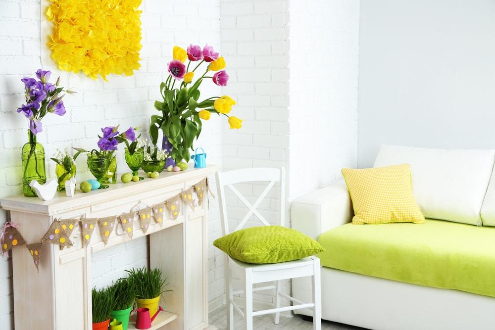 spring pastel decor for living room